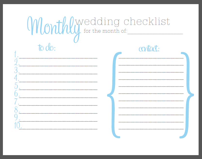 borrowed blue free printable monthly checklist ally jean