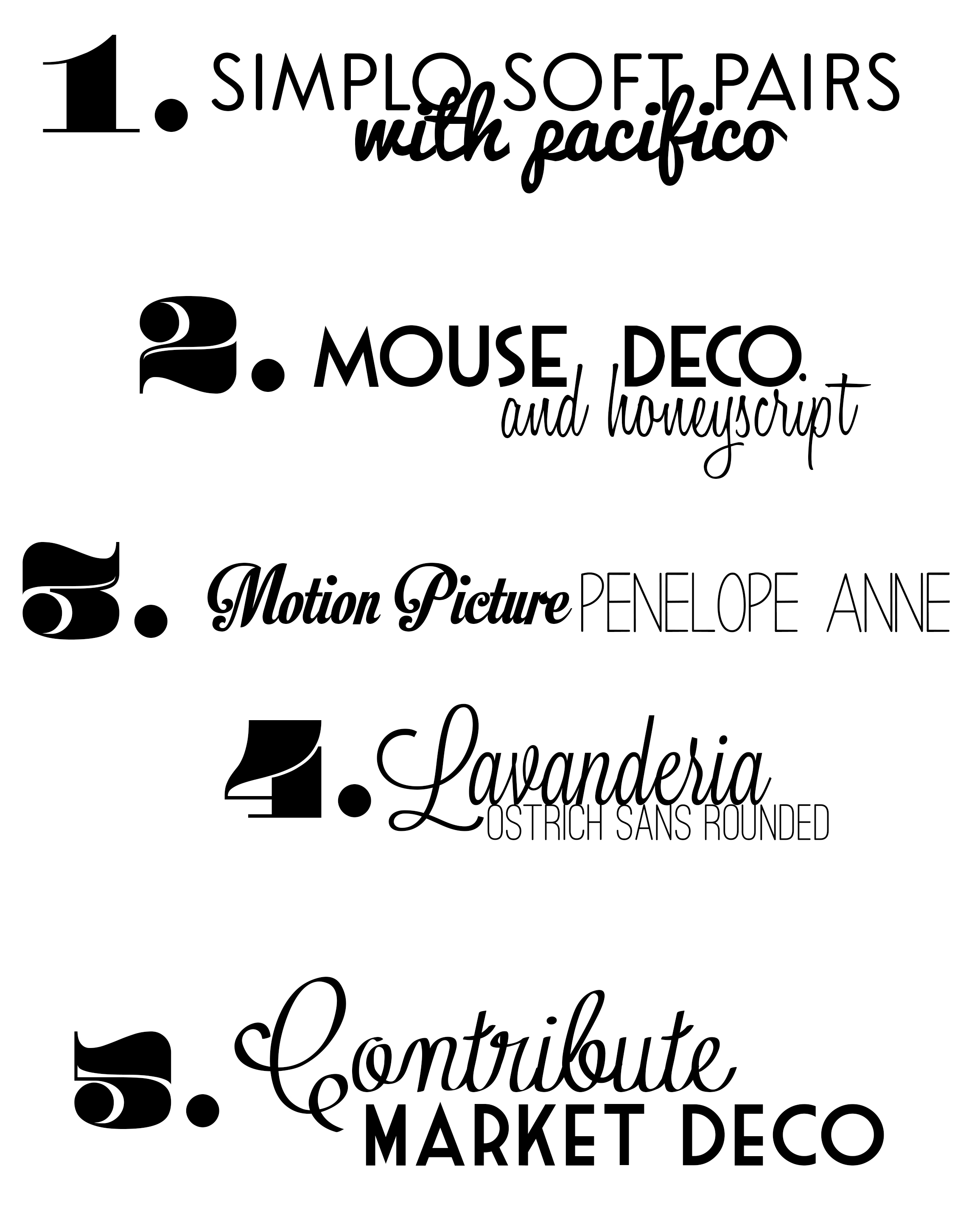 favorite free font combos ally jean