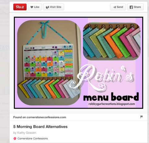 DIY Menu Planning Board