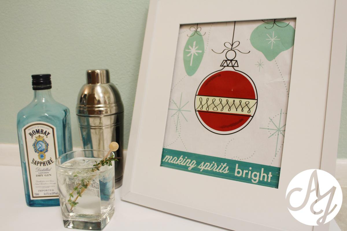 """""""Making Spirits Bright"""" Free printable"""
