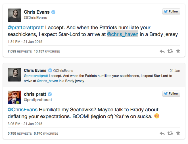 Pratt V Evans Twitter Feud