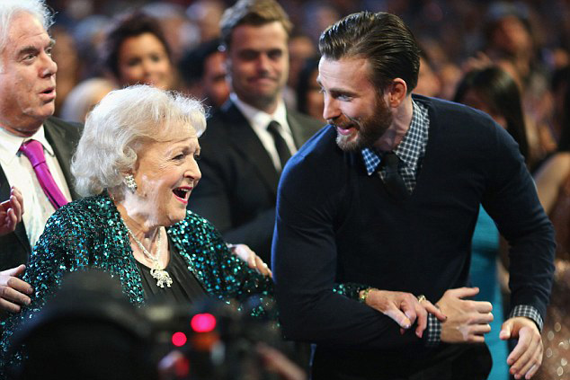Chris Evans and Betty White