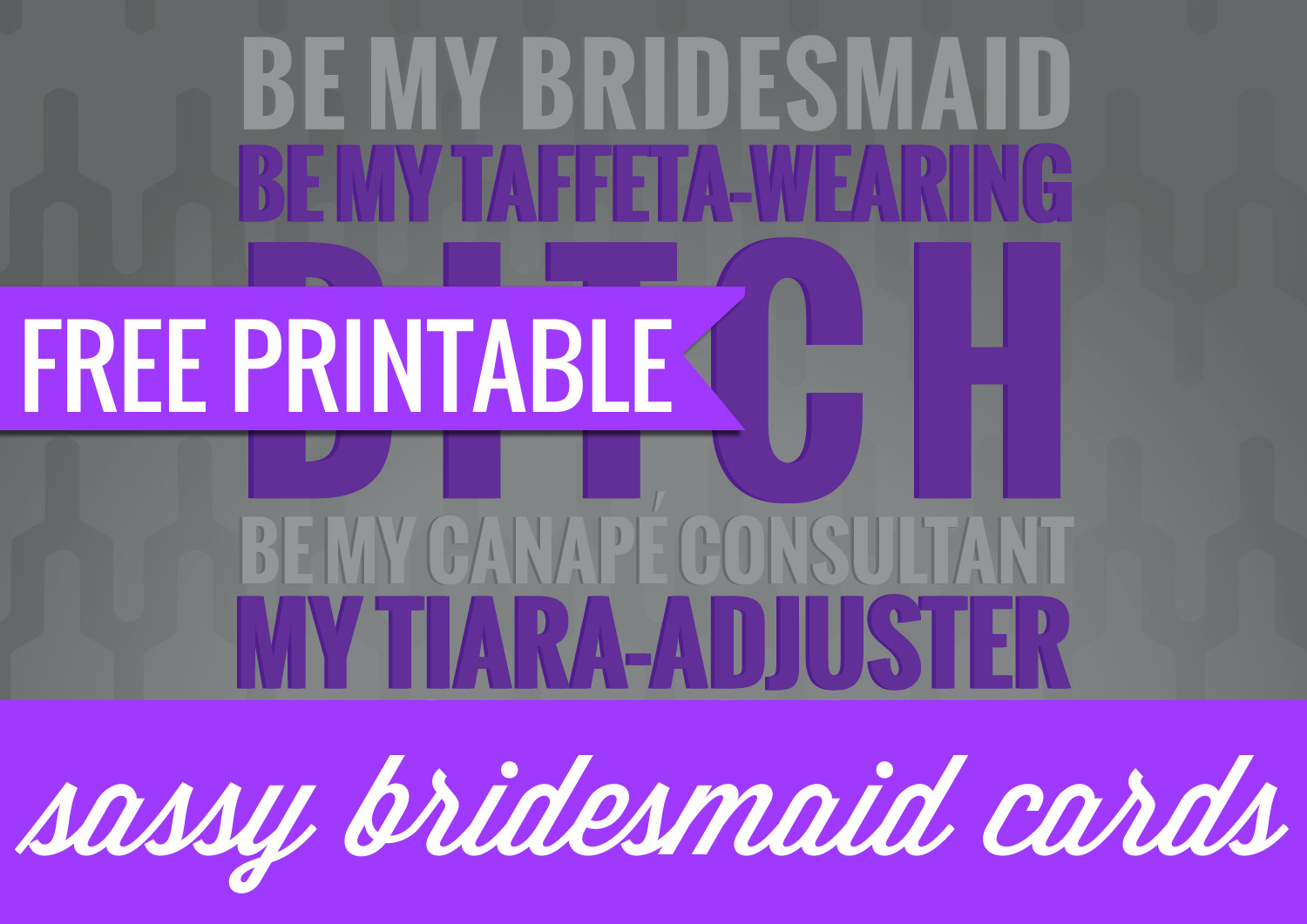 graphic regarding Free Printable Bridesmaid Cards known as No cost Printable: Sy Bridesmaid Playing cards Ally Jean Blog site