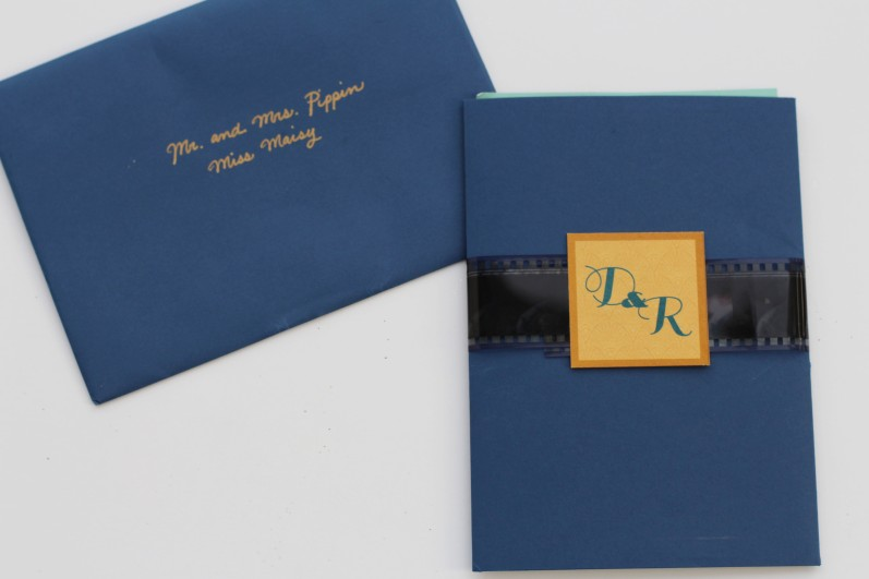 Dani & Reed's Vintage Hollywood Wedding Invites
