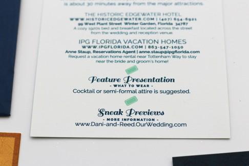 Dani & Reed's Vintage Hollywood Wedding Invites