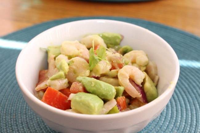 Tangy Lime, Avocado & Shrimp Salad